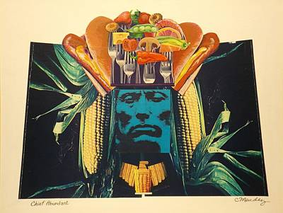 Hamburger Painting - Chief Abundant by Charles Mendez