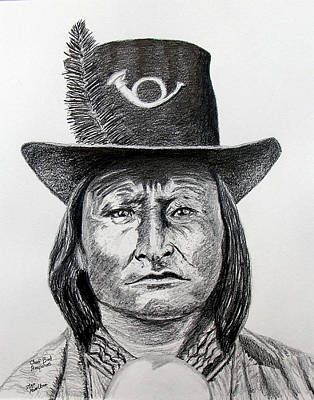 Chief Bird-arapahoe Art Print by Stan Hamilton