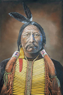 Painting - Chief Buckskin Charley by Jerry McElroy