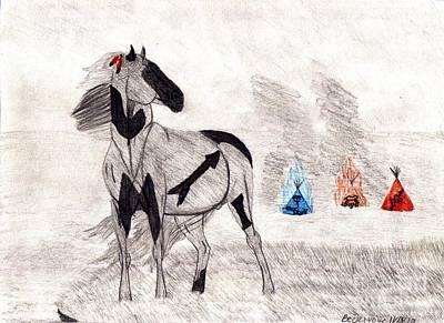 Chief Chanooka's Horse Original by Rebecca Volke