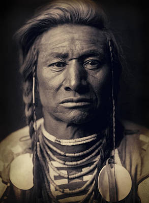 Absaroka Photograph - Chief Child Of The Crow Nation 1908 by Daniel Hagerman