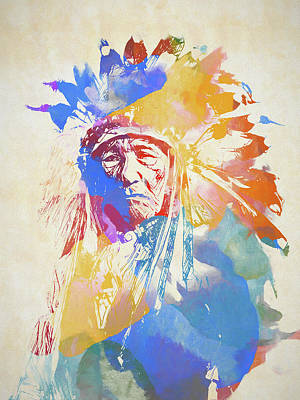 Painting - Chief by Dan Sproul