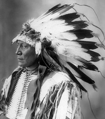 Sioux Photograph - Chief Hollow Horn Bear by Frank Rinehart