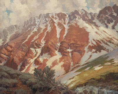 Climb Painting - Chief Joseph Mountain by Steve Henderson