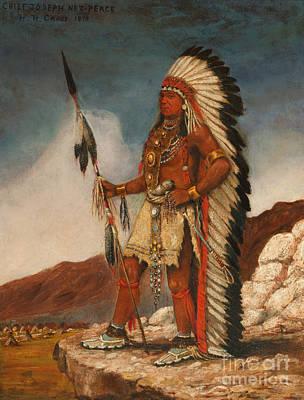 Painting - Chief Joseph Nez Perce 1879 by Henry Herman Cross