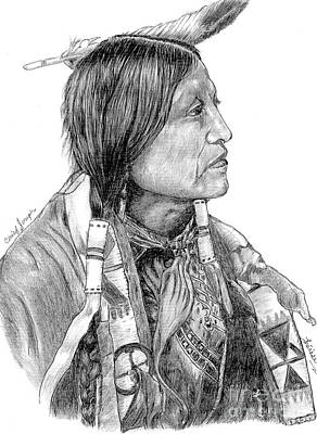 Drawing - Chief Joseph Of Nes Perce by Bill Hubbard