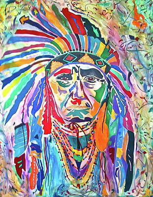 Painting - Chief Joseph Of The Nez Perce by Elie Wolf