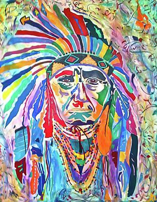 Chief Joseph Of The Nez Perce Art Print