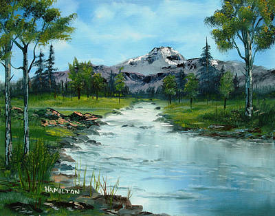 Chief Joseph Ranch Montana Art Print by Larry Hamilton