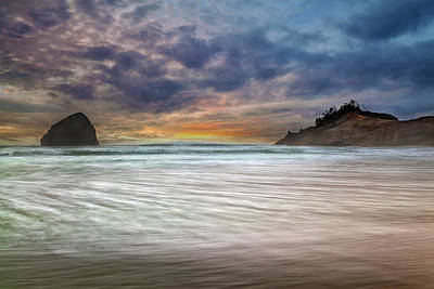 Scenic Photograph - Chief Kiawanda Rock At Cape Kiwanda In Oregon Coast by David Gn