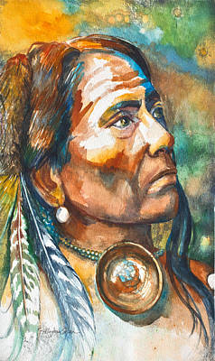 Chief Last Horse Original by Patricia Allingham Carlson