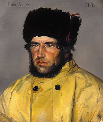 Raincoats Painting - Chief Lifeboatman Lars Kruse by Mountain Dreams