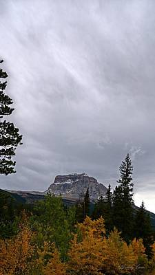 Photograph - Chief Mountain, Fall, North-side, Vertical by Tracey Vivar