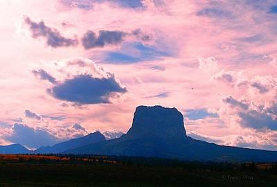 Chief Mountain, Pastel Art Print