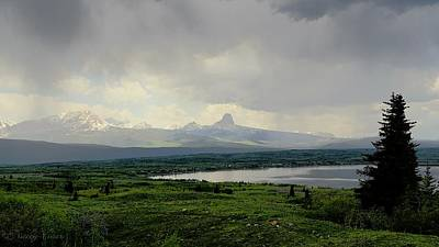 Photograph - Chief Mountain Rainstorm by Tracey Vivar