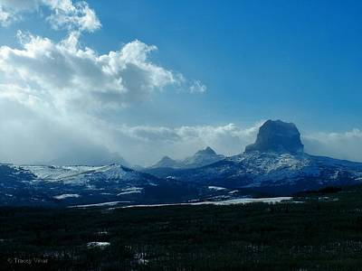 Photograph - Chief Mountain, Winter View by Tracey Vivar