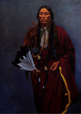 Painting - Chief Quanah Parker by Harvie Brown