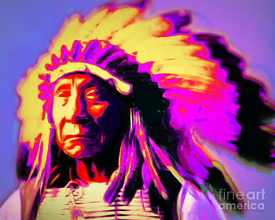 Chief Red Cloud Photograph - Chief Red Cloud 20151230 by Wingsdomain Art and Photography