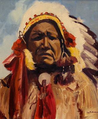 Digital Art - Chief Red Cloud by Max DeBeeson
