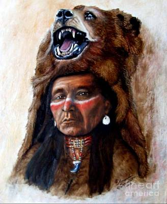 Chief Running Bear Art Print
