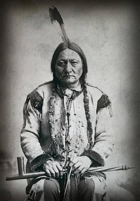 The American Buffalo Photograph - Chief Sitting Bull 1884 by Daniel Hagerman