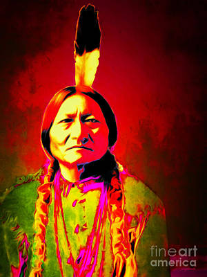 Casa Grande Photograph - Chief Sitting Bull 20151228v2 by Wingsdomain Art and Photography