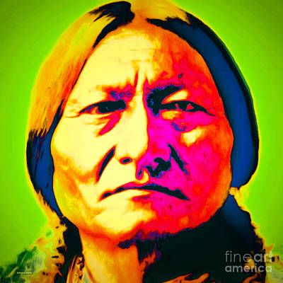Casa Grande Photograph - Chief Sitting Bull 20151230 by Wingsdomain Art and Photography