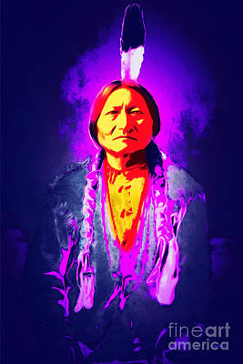 Chief Red Cloud Photograph - Chief Sitting Bull 20160103 by Wingsdomain Art and Photography