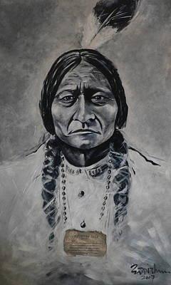 Chief Sitting Bull Art Print by Eddie Lim