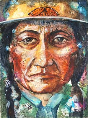 Sitting Bull Painting - Chief Sitting Bull by Patricia Allingham Carlson