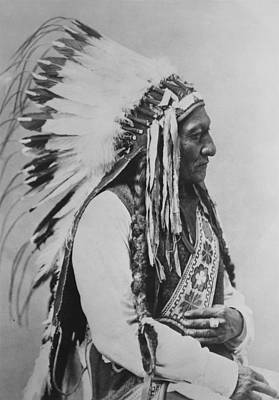 Sioux Photograph - Chief Sitting Bull by War Is Hell Store
