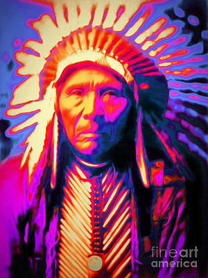 Photograph - Chief Three Horses 20151231 by Wingsdomain Art and Photography
