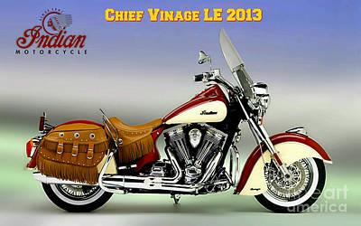 Chief Vintage Le 2013 Art Print
