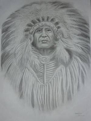 Drawing - Chief by Wanvisa Klawklean