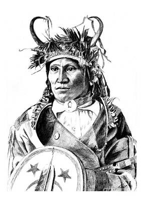 Drawing - Chief Wets It by Toon De Zwart