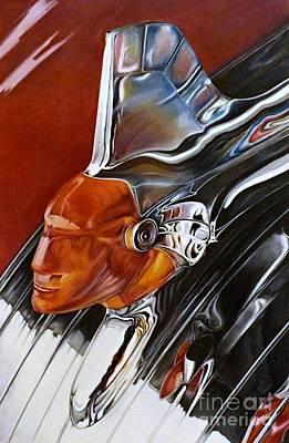 Pontiac Drawing - Chieftain by David Neace