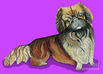 Print featuring the pastel Chien Chien Pekingese by Ania M Milo