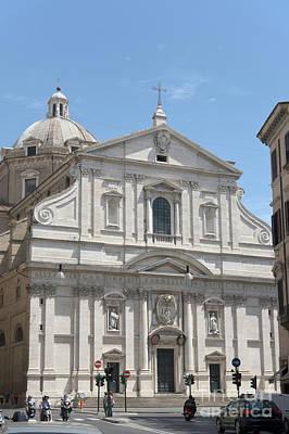 Photograph - Chiesa Del Gesu' In Piazza Del Gesu' In Rome. by Fabrizio Ruggeri