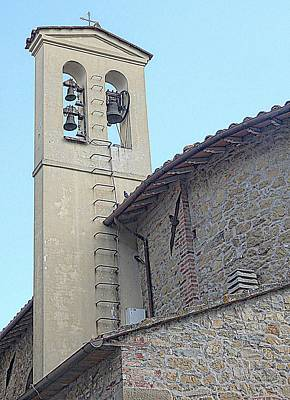 Photograph - Chiesa Di San Luigi Gonzaga Bell Tower Tavernelle by Dorothy Berry-Lound