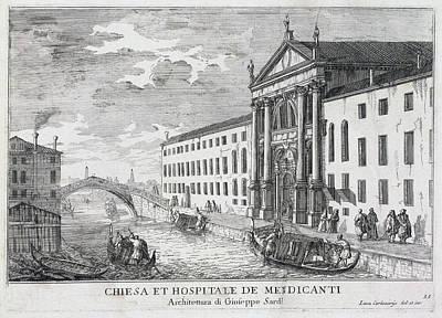 Drawing - Chiesa Et Hospitale De Mendicanti  by Luca Carlevariis