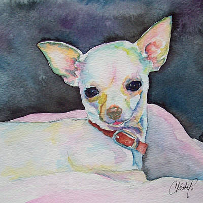 Painting - Chihauhau Puppy by Christy Freeman Stark