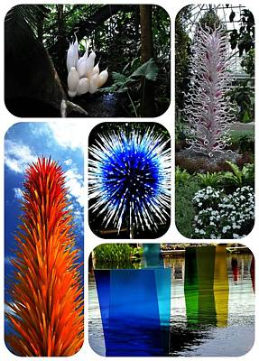 Photograph - Chihuly Three - New York Botanical Gardens by Jacqueline M Lewis