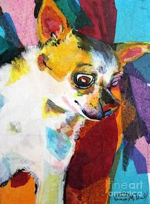 Mixed Media - Chihuahua Abstract by Veronica McDonald