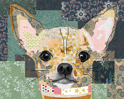 Chihuahua Collage Art Print by Claudia Schoen