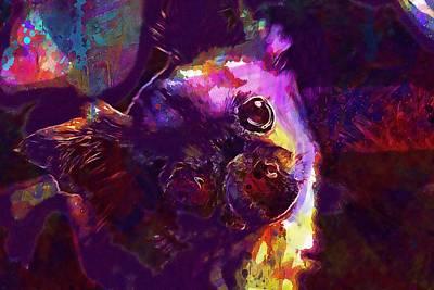 Chihuahua Digital Art - Chihuahua Dog Eyes Snout Head  by PixBreak Art