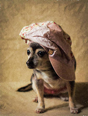 Photograph - Chihuahua In A Hippie Hat by Eleanor Caputo