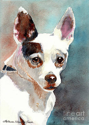 Painting - Chihuahua, Dog Painting, Dog Portrait, Dog Prints, Dog Art by LeAnne Sowa