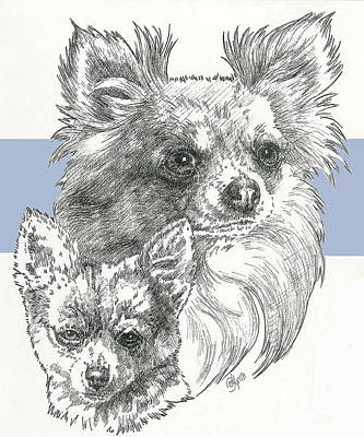 Mixed Media - Chihuahua - Longhair - And Pup by Barbara Keith