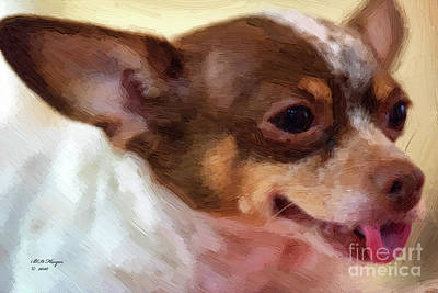 Mixed Media - Chihuahua Oil Portrait  by Bill And Deb Hayes