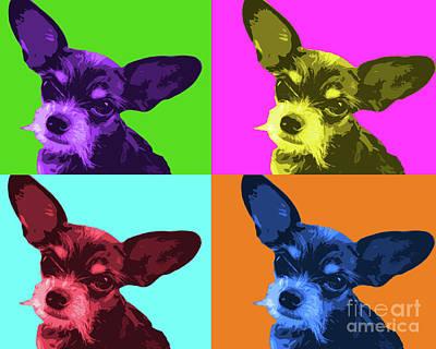 Chihuahua Digital Art - Chihuahua Pop Art by Maggie Cersosimo